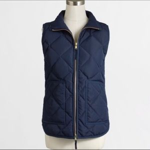 J. Crew Navy Excursion Quilted Vest
